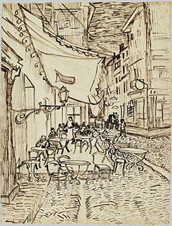 Van Gogh - Cafe on Place de Forum, Arles