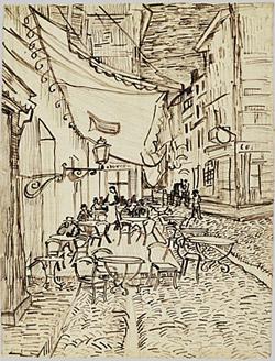 Van Gogh - Cafe on Place de Forum, Arles