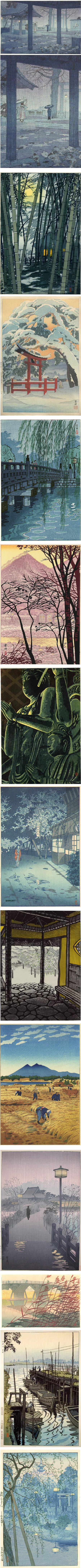 Shiro Kasamatsu, Shin Hanga Japanese woodblock prints